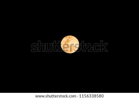 Super Moon Dark Background Thailand Stock Photo Edit Now