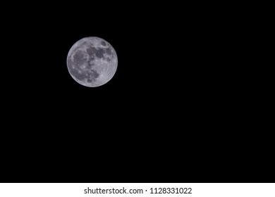 super moon at night