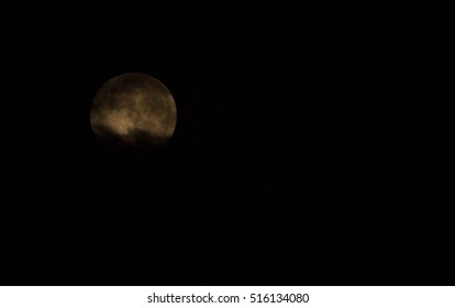 Super moon in picture looklike the dark night starting bad thing comes, vampire, ghost, whitch, magician, cloud infront of moon
