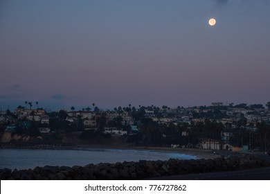 super moon. We could look super moon at California. Super moon is bigger and brighter than usual moon.