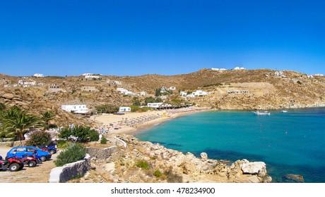 mykonos greece paradise beach summer party free videos
