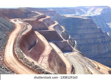 Super pit goldmine, western australia outback, kalgoorlie, mining