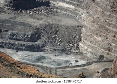 Super Pit at Kalgoorlie, Western Australia.View to the bottom of the Pit