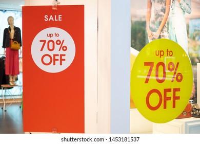 Super Sale, Big Sale or special offer banner in shop