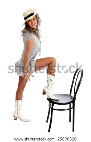 Sexy women in cowboy boots