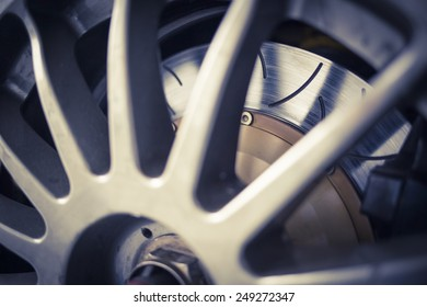 Super sport car alloy wheel disc brake