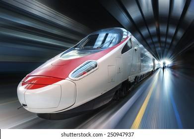 Super streamlined train - Shutterstock ID 250947937