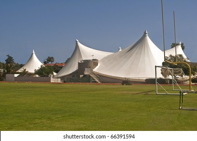 Super Tents - The steel tent athletic facility at the University of La Verne in Southern California