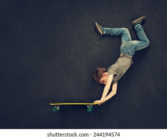 Super trick skateboarder.