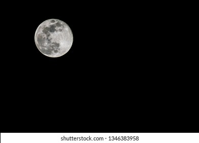 """""""Super Worm Equinox Moon,"""" a full moon,and it also happens to be on the same day as the Spring Equinox, making it a rare event, spotted on March 21, 2019 in India."""