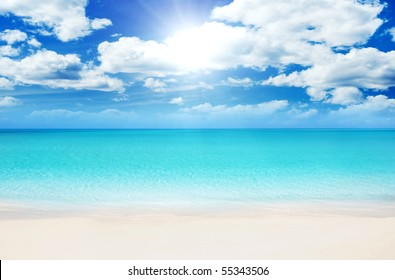 Superb Beach at Summertime