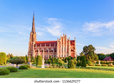 Superb beautiful Church of the Holy Trinity in Gerviaty, Grodno region, Belarus