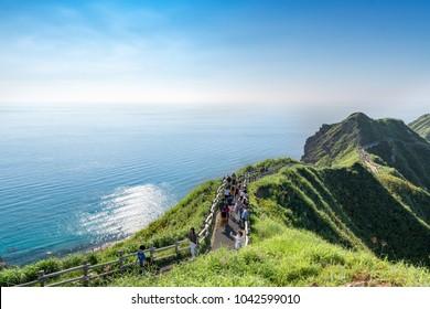 A superb view of the cape of Kamui / Shakotan Hokkaido, Japan