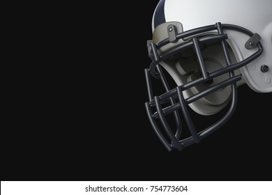 Superbowl american football match. Helmet isolated on background