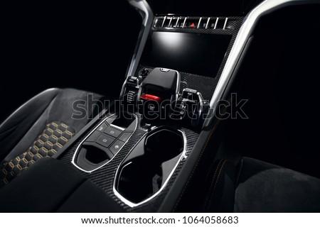 Supercar carbon dashboard interior