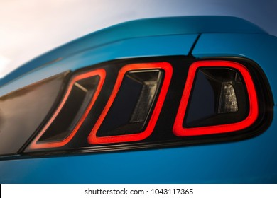 Supercar led taillight and spoiler