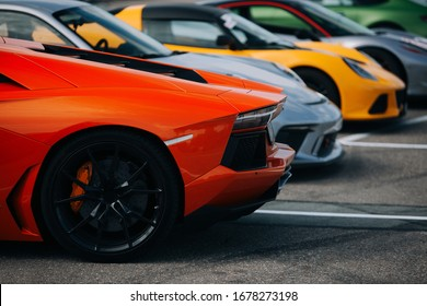 Supercars at the parking lot