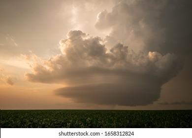 A supercell over Stapleton, Nebraska