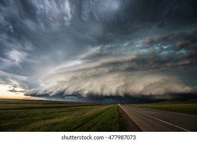 Supercell storm in South Dakota