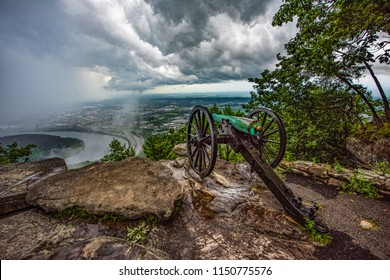 Supercell Thunderstorm from Point Park in Chattanooga Tennessee