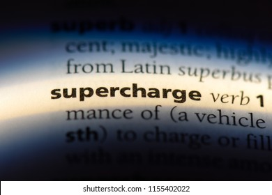 supercharge word in a dictionary. supercharge concept.