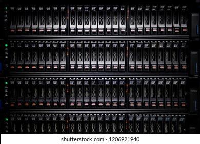 Supercomputer storage hard drives