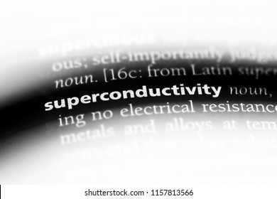 superconductivity word in a dictionary. superconductivity concept.