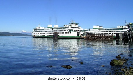 super-ferry returning from the san juan islands in washington state with another load of sunburned tourists.