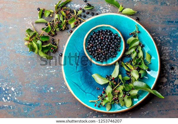 Superfood Maqui Berry Superfoods Antioxidant Indian Stock Photo