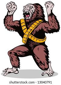 Superhero Gorilla