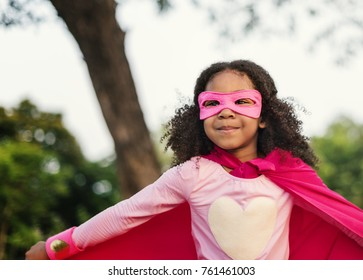 Superhero kids with superpowers