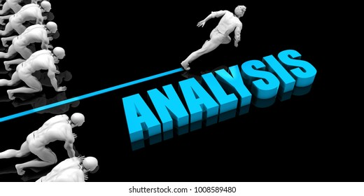 Superior Analysis Concept with Competitive Advantage 3D Render