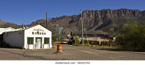 SUPERIOR, ARIZONA - NOVEMBER 30: Street scene in the quiet small mining town, home of the Bryce Thompson Arboretum State Park on November 30, 2015.