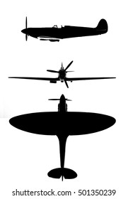 Supermarine Spitfire silhouettes for composites