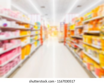 Supermarket abstrac blurred background