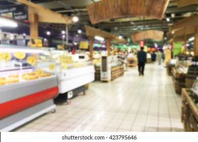 supermarket background with intentional blur effect