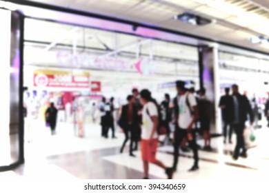 Supermarket. Blur, bokeh, defocusing the image for the background
