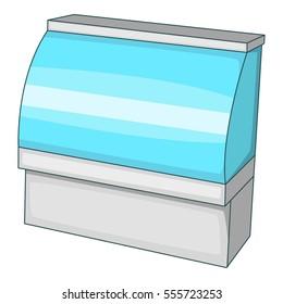 Supermarket counter icon. Cartoon illustration of supermarket counter  icon for web design