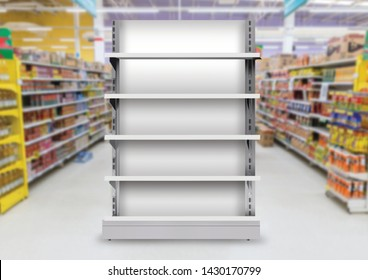 Supermarket Display Gondola Single Side