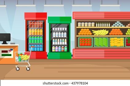 Supermarket Interior Background