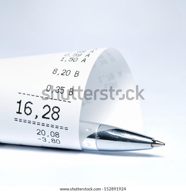 Empfang und Kugelschreiber für den Supermarkt