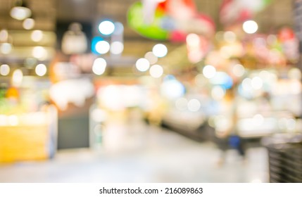 Supermarket store blur background with bokeh