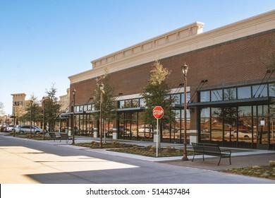 Supermarket in suburban area