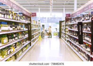 Supermarket theme creative abstract blur background with bokeh effect. Suitable for designs as background
