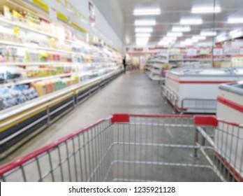 Blurred image in supermarkets