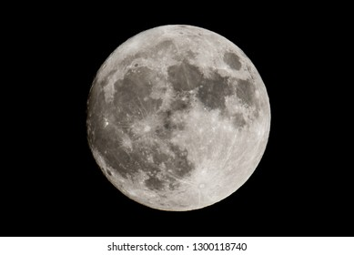 Supermoon detailed telephoto image taken on November 13, 2016