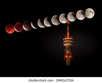 Supermoon Eclipse Almaty