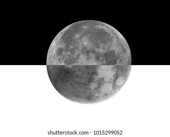 Supermoon or Fullmoon / A supermoon is a full moon or a new moon that approximately coincides with the closest distance that the Moon reaches to Earth in its elliptic orbit