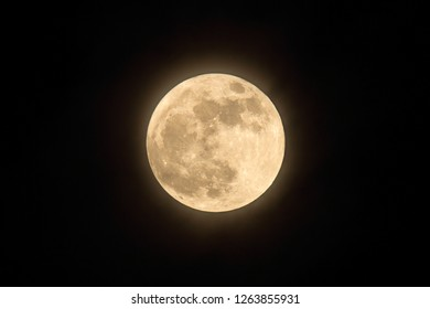 Supermoon glowing in the night sky over Canada 2012