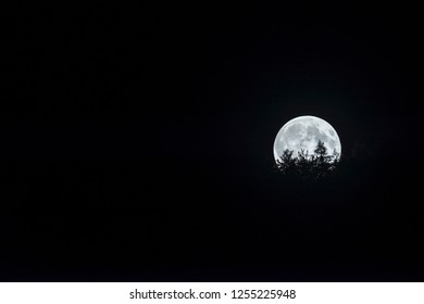 Supermoon at night